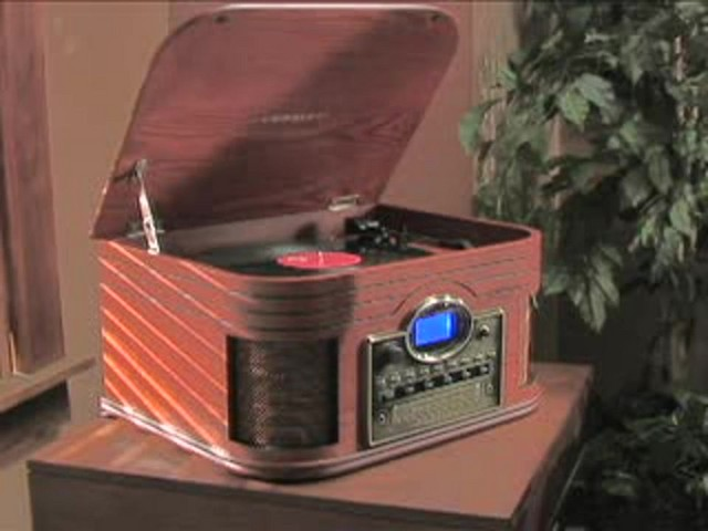 Crosley® Nostalgic CD Recorder / Turntable / Radio / Cassette - image 3 from the video