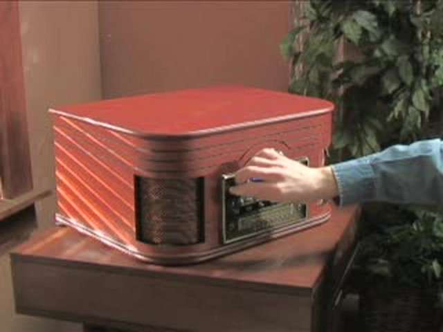 Crosley® Nostalgic CD Recorder / Turntable / Radio / Cassette - image 5 from the video