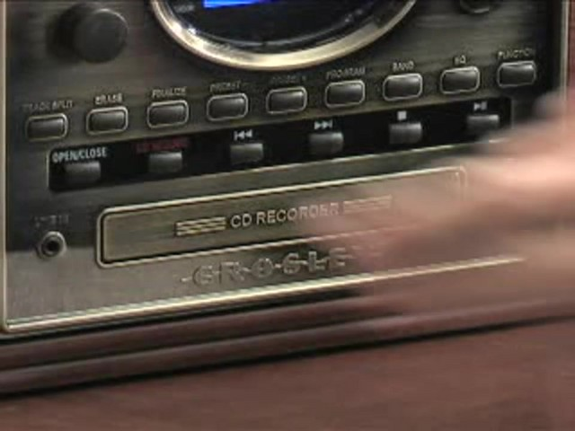 Crosley® Nostalgic CD Recorder / Turntable / Radio / Cassette - image 6 from the video