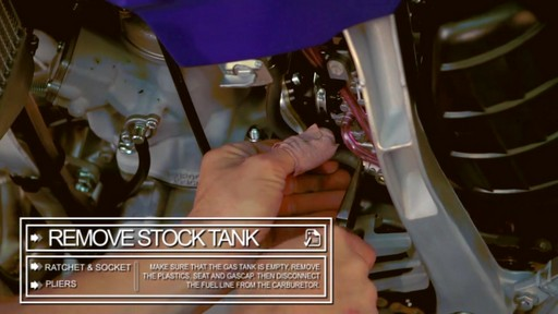 How to Install an Oversize Desert Tank on a Dirt Bike - image 4 from the video