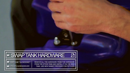 How to Install an Oversize Desert Tank on a Dirt Bike - image 6 from the video