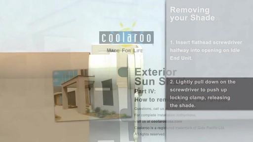 Coolaroo Exterior Sun Shade Removal » Exterior Solar Shades - How To