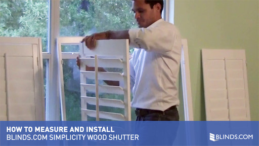 How To Measure And Install Simplicity Wood Shutters How To Videos