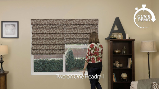 Quickdemo Two On One Headrail For Roman Shades 187 Blinds