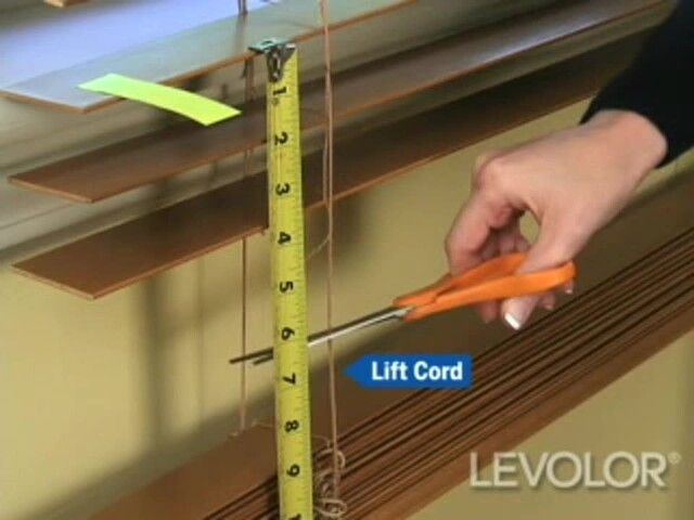 How to Shorten Blinds Video - Levolor Wood and Faux Wood Blinds - Blinds.com DIY - image 4 from the video