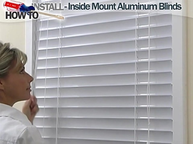 How to Install Aluminum Blinds Video - Inside Mount - Blinds.com DIY - image 10 from the video