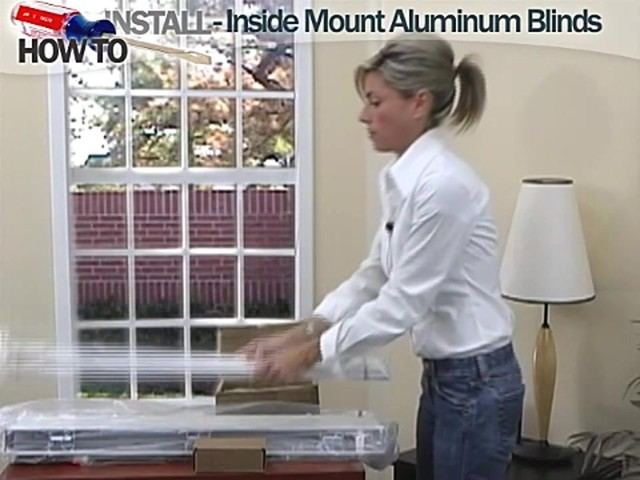 How to Install Aluminum Blinds Video - Inside Mount - image 2 from the video