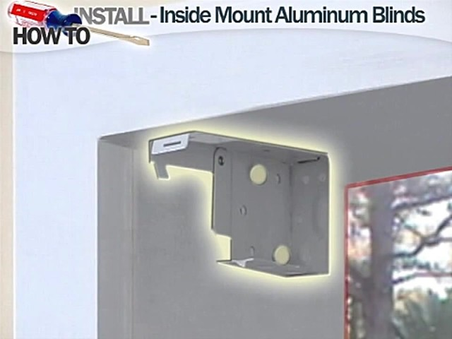 How to Install Aluminum Blinds Video - Inside Mount - image 3 from the video