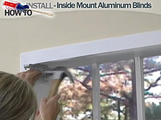How to Install Aluminum Blinds Video - Inside Mount - image 4 from the video