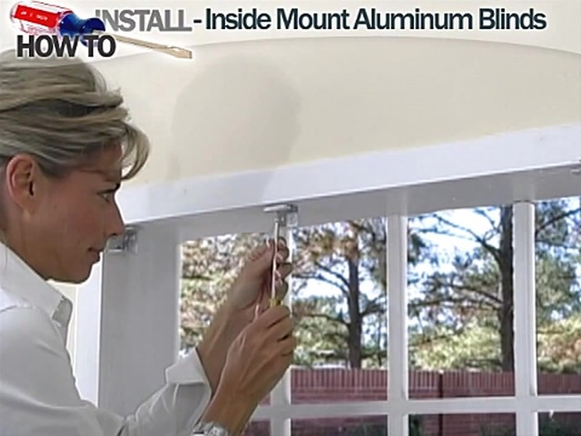 How to Install Aluminum Blinds Video - Inside Mount - Blinds.com DIY - image 5 from the video