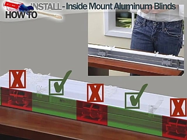 How to Install Aluminum Blinds Video - Inside Mount - image 6 from the video