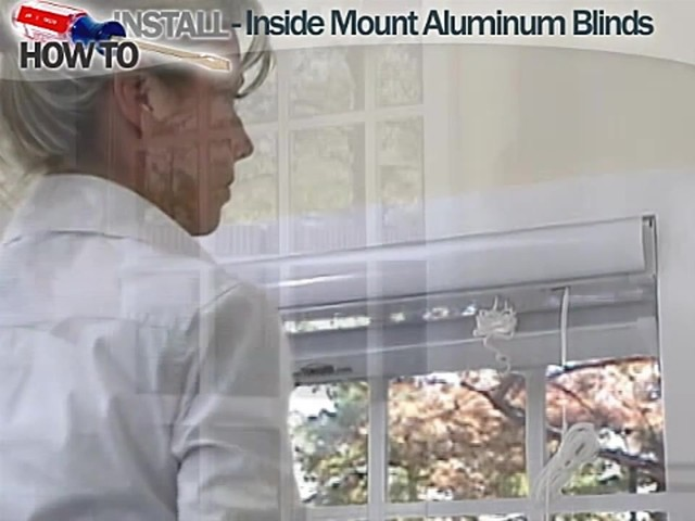 How to Install Aluminum Blinds Video - Inside Mount - image 8 from the video