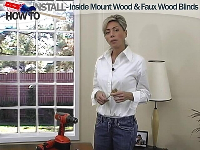 How to Install Inside Wood and Fauxwood Blinds - image 1 from the video