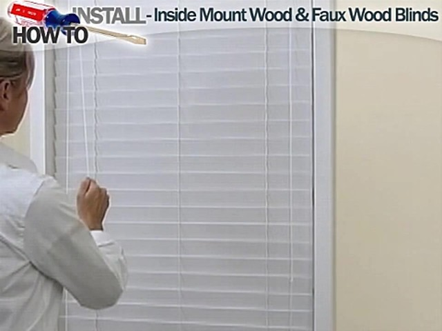 How to Install Inside Wood and Fauxwood Blinds - image 10 from the video
