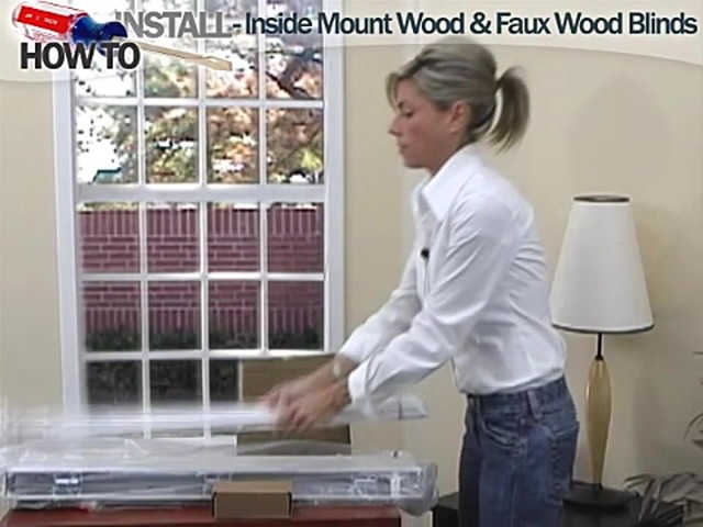 How to Install Inside Wood and Fauxwood Blinds - image 2 from the video