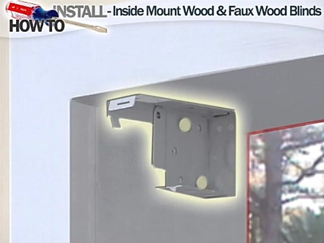 How to Install Inside Wood and Fauxwood Blinds - image 3 from the video