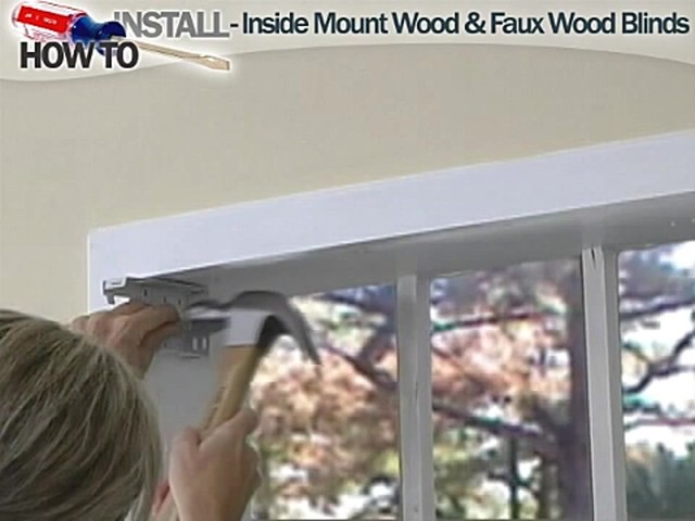 How to Install Inside Wood and Fauxwood Blinds - image 4 from the video