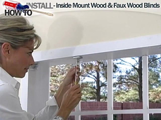 How to Install Inside Wood and Fauxwood Blinds - image 5 from the video