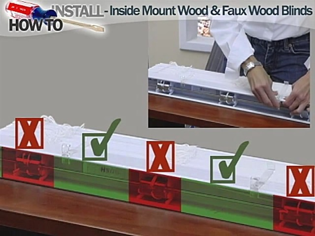 How to Install Inside Wood and Fauxwood Blinds - image 6 from the video