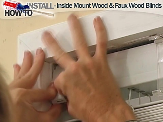 How to Install Inside Wood and Fauxwood Blinds - image 7 from the video