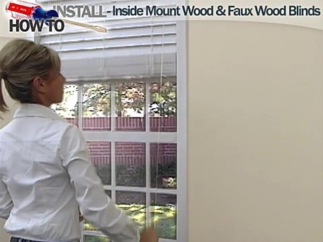 How to Install Inside Wood and Fauxwood Blinds - image 9 from the video