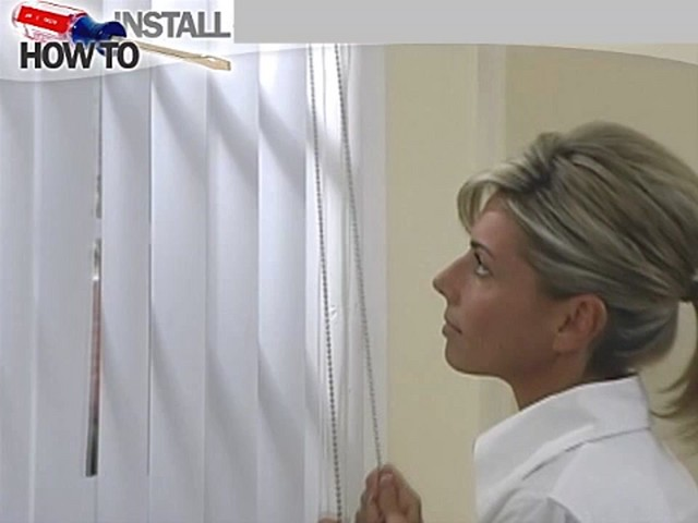 How to Install Vertical Blinds Video - Inside Mount - image 10 from the video