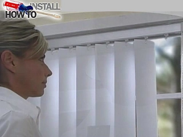 How to Install Vertical Blinds Video - Inside Mount - image 2 from the video