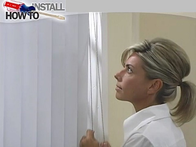 How to Install Vertical Blinds Video - Inside Mount - image 6 from the video