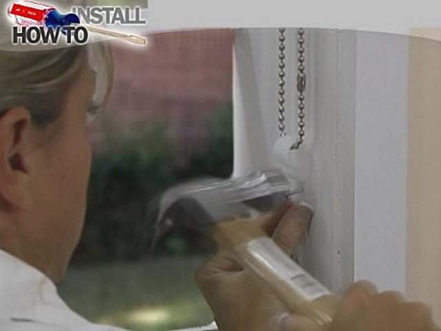 How to Install Vertical Blinds Video - Inside Mount - image 9 from the video