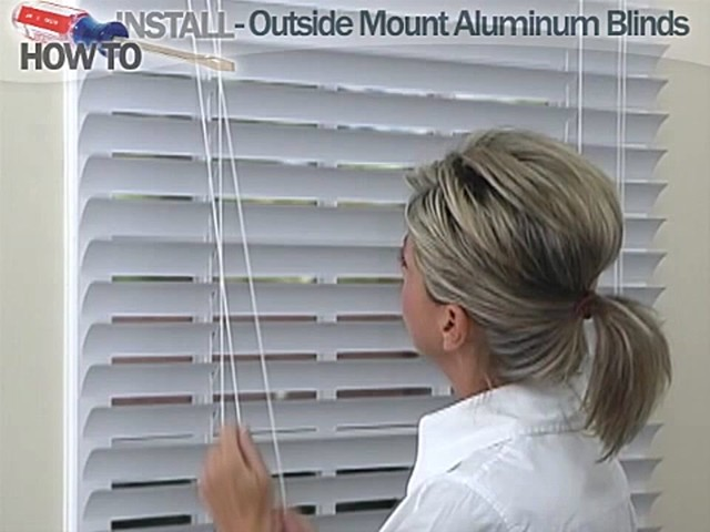 How to Install Aluminum Blinds - Outside Mount - image 10 from the video