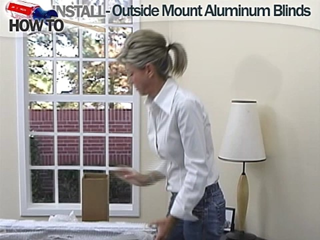 How to Install Aluminum Blinds - Outside Mount - image 2 from the video