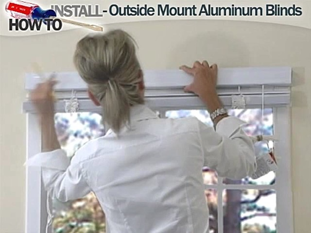 How to Install Aluminum Blinds - Outside Mount - image 3 from the video