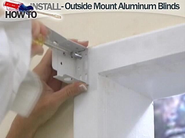 How to Install Aluminum Blinds - Outside Mount - image 4 from the video