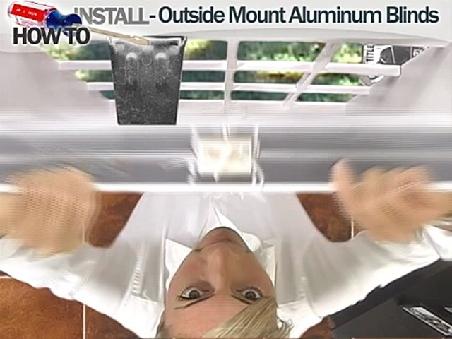 How to Install Aluminum Blinds - Outside Mount - image 5 from the video