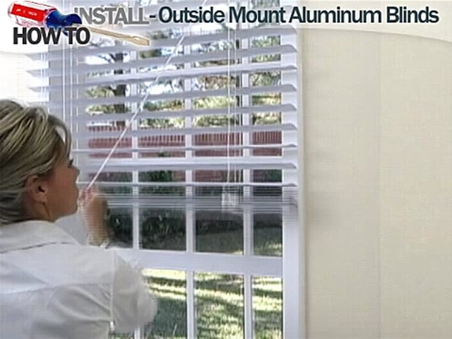 How to Install Aluminum Blinds - Outside Mount - image 8 from the video