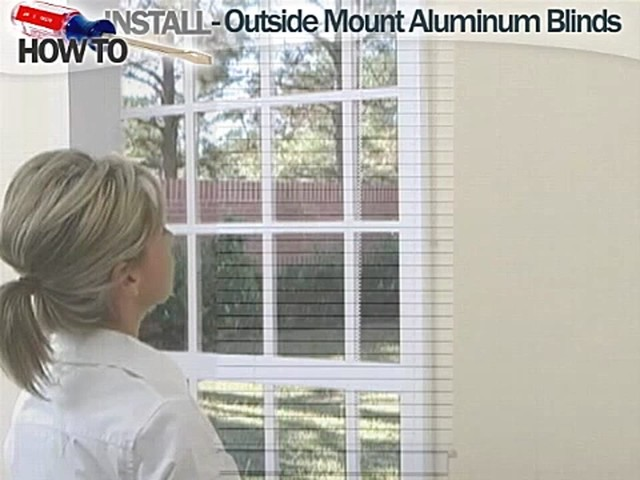 How to Install Aluminum Blinds - Outside Mount - image 9 from the video