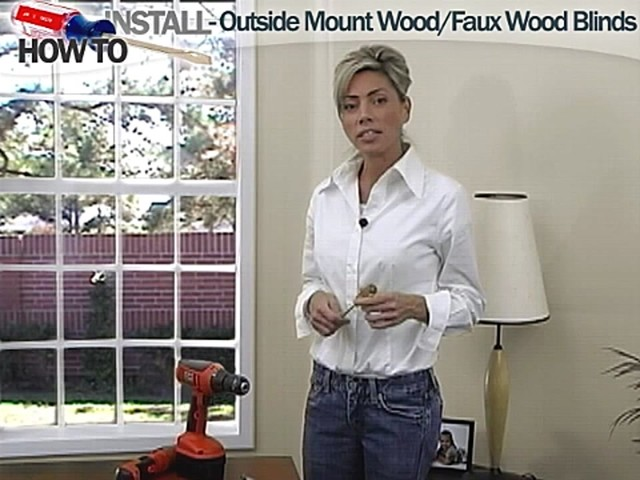 How to Install Wood and Faux Wood Blinds - Outside Mount - image 1 from the video