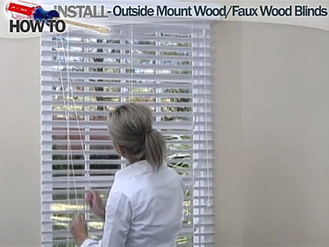 How to Install Wood and Faux Wood Blinds - Outside Mount - image 10 from the video