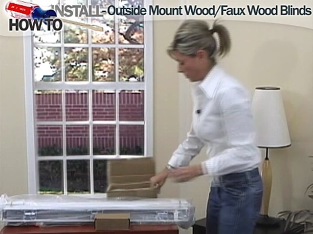 How to Install Wood and Faux Wood Blinds - Outside Mount - image 2 from the video