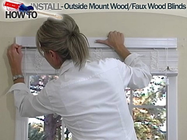 How to Install Wood and Faux Wood Blinds - Outside Mount - image 3 from the video