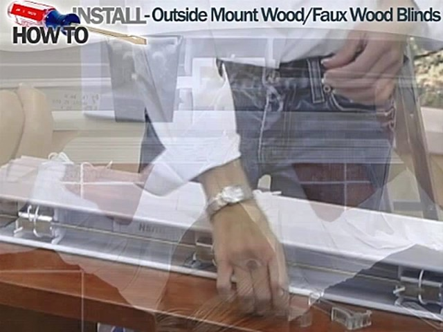How to Install Wood and Faux Wood Blinds - Outside Mount - image 5 from the video