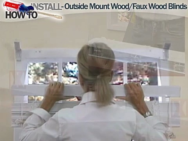 How to Install Wood and Faux Wood Blinds - Outside Mount - image 6 from the video