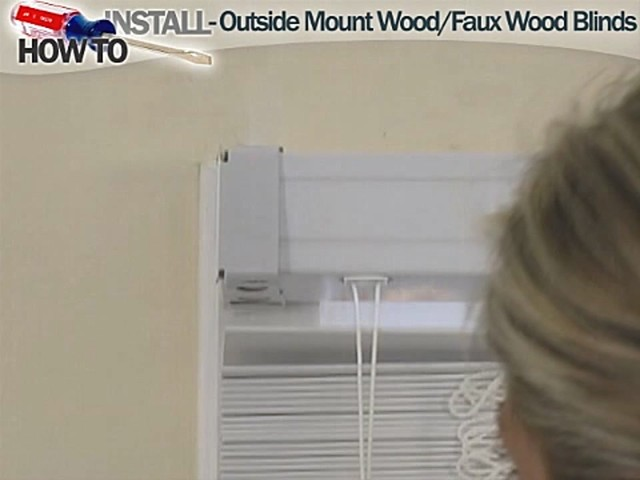 How to Install Wood and Fauxwood Blinds - Outside Mount - Blinds.com DIY - image 7 from the video