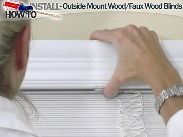How to Install Wood and Faux Wood Blinds - Outside Mount - image 8 from the video