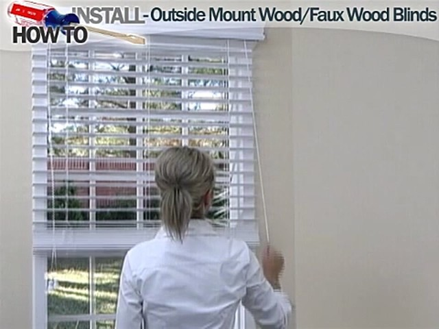 How to Install Wood and Faux Wood Blinds - Outside Mount - image 9 from the video