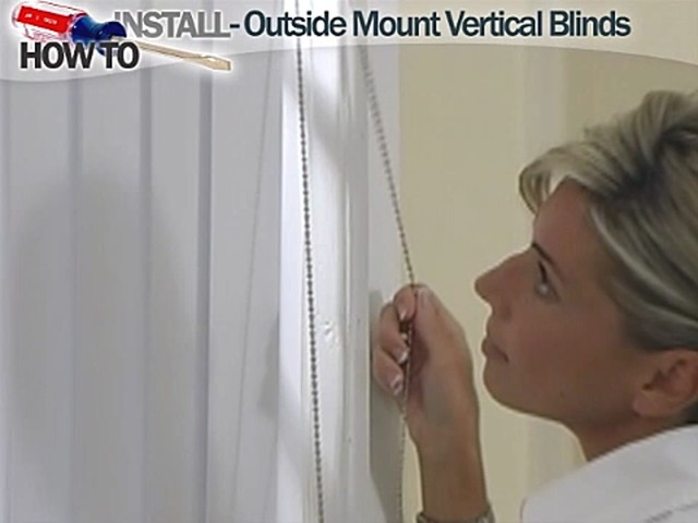 How to Install Vertical Blinds Video- Outside Mount - Blinds.com DIY  - image 10 from the video