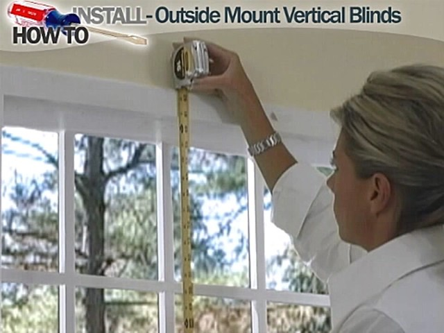 How to Install Vertical Blinds Video- Outside Mount - Blinds.com DIY  - image 2 from the video