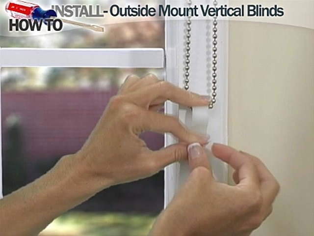 How to Install Vertical Blinds Video- Outside Mount - Blinds.com DIY  - image 6 from the video