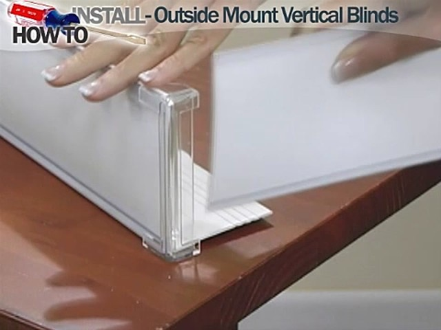 How to Install Vertical Blinds Video- Outside Mount - Blinds.com DIY  - image 8 from the video