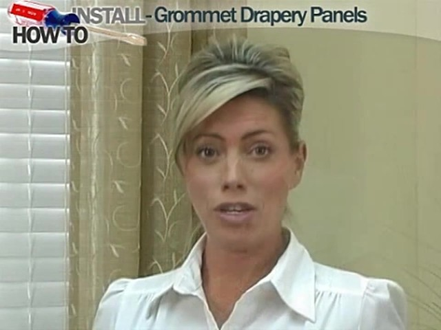 How to Install Window Drapes Video - Grommet Drapery Panels - image 1 from the video